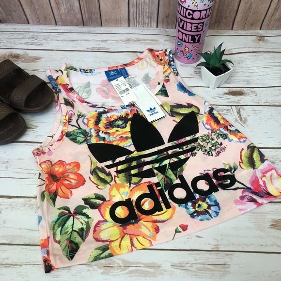 e83d12fd867 adidas Tops | Floralita Tank Top | Poshmark